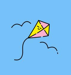 kite line icon vector image