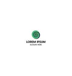 letter g spiral creative logo design vector image