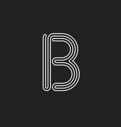 lines letter b thread maze style latin vector image