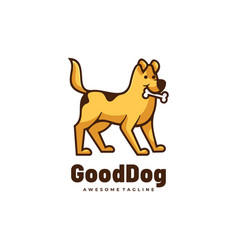 logo good dog simple mascot style vector image
