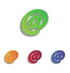 Mail sign Colorfull applique icons vector image