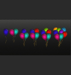 Many colored balloon effect vector