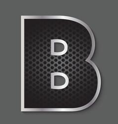 Metal grid font - letter b vector