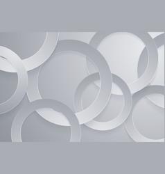 Modern gray backgrounds 3d circle papercut layer vector