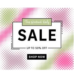 modern sale banner template halftone design vector image