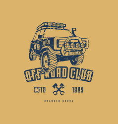 Off-road club emblem vector