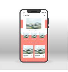 Online music player ui ux gui screen for mobile vector