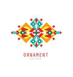 ornament design logo template colorful ornate vector image