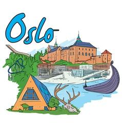 Oslo doodles vector