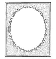 Oval border have full frame dotted pattern vector