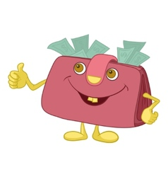 Purse showing thumbs up vector