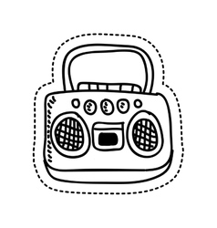 Radio retro style drawing vector