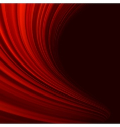 Red smooth twist light lines EPS 10 vector image