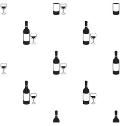 red wine icon in black style isolated on white vector image