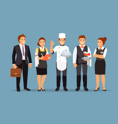 restaurant staff vector image