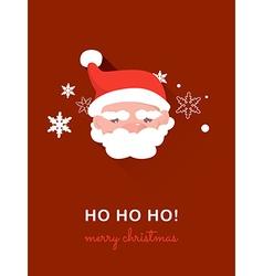 Santa claus on christmas card vector image