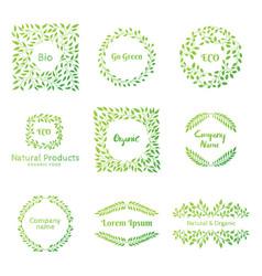set eco elements vector image
