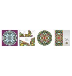 set floral decorative background template vector image