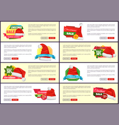 set of different christmas sale promo posters vector image