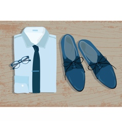 Shirt and shoes vector