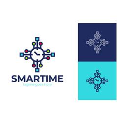 smart watch logo watch application logo vector image