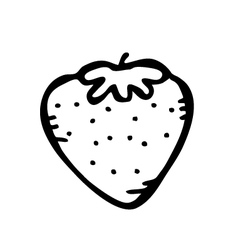 strawberry doodle vector image