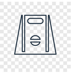 Take away concept linear icon isolated on vector