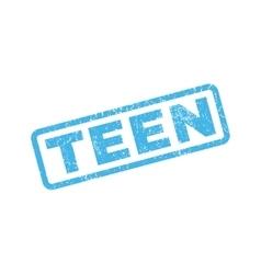 Teen rubber stamp vector