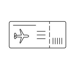 ticket line icon vector image
