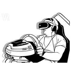 Virtual reality with steering wheel vector