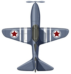 War plane on white vector image