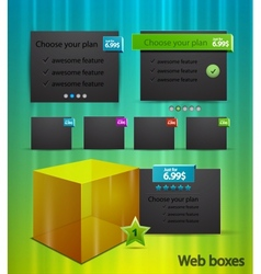 web box templates vector image