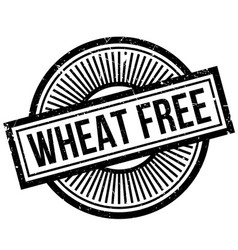 Wheat free rubber stamp vector
