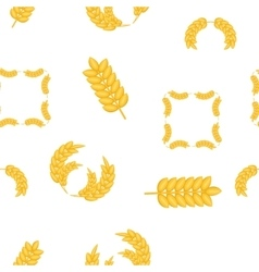 Wheat germ pattern cartoon style vector
