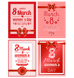 womens day best wishes and love spring card vector image