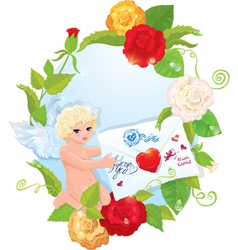 angel letter 380 vector image vector image