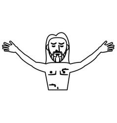 jesus christ resurrection symbol outline vector image