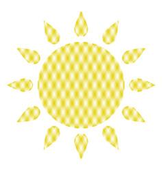 symbol of sun vector image vector image