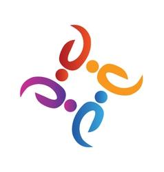 Teamwork volunteer people logo vector image