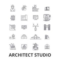 architect studio house plan building vector image