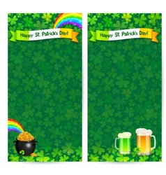 Green Patricks day flyer templates vector image
