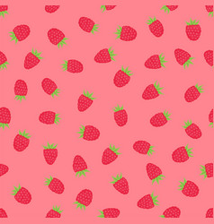 pink background with raspberry vector image vector image