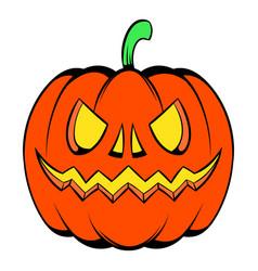 pumpkin icon cartoon vector image