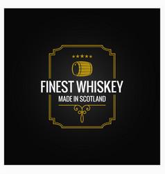 whiskey logo dark label design background vector image vector image