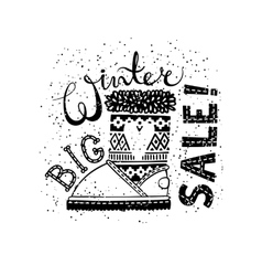 Winter special banner or label with boot business vector