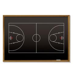 Basketball blackboard vector