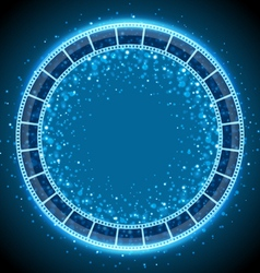 film tape circle background vector image