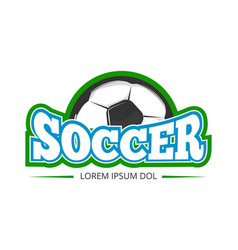 Football soccer club logo badge template vector