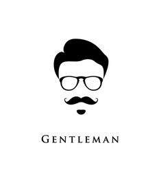 gentleman portrait man with hairstyle mustache vector image vector image