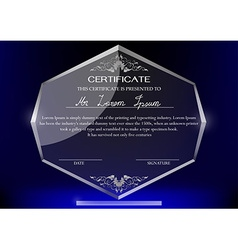 Glass trophy vector image